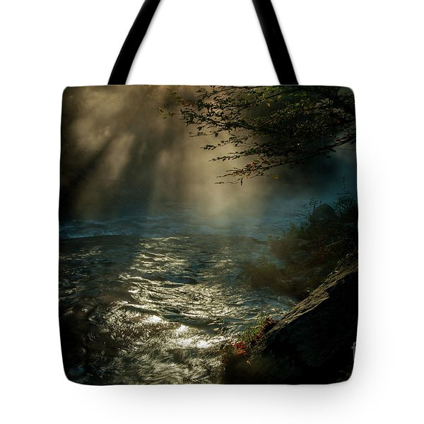 Sunrays At Fork River Tote Bag