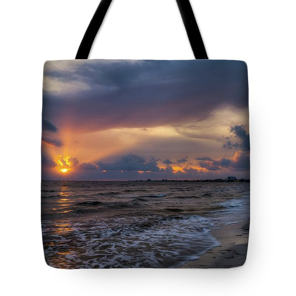 Sunrays Over The Gulf Of Mexico Tote Bag