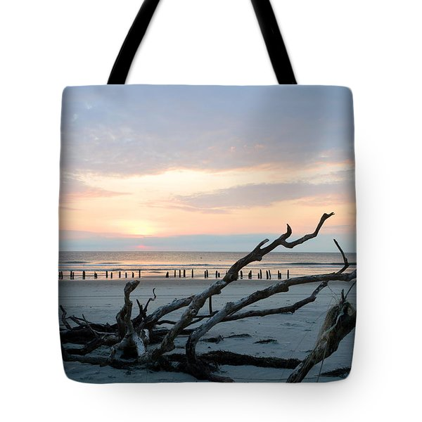 Tote Bag featuring the photograph Sunrise @ Pea Island by Barbara Ann Bell