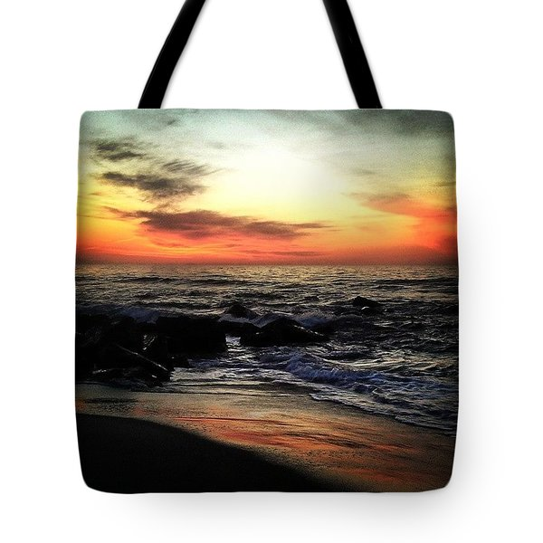 Spring Sunrise Tote Bag by Lauren Fitzpatrick
