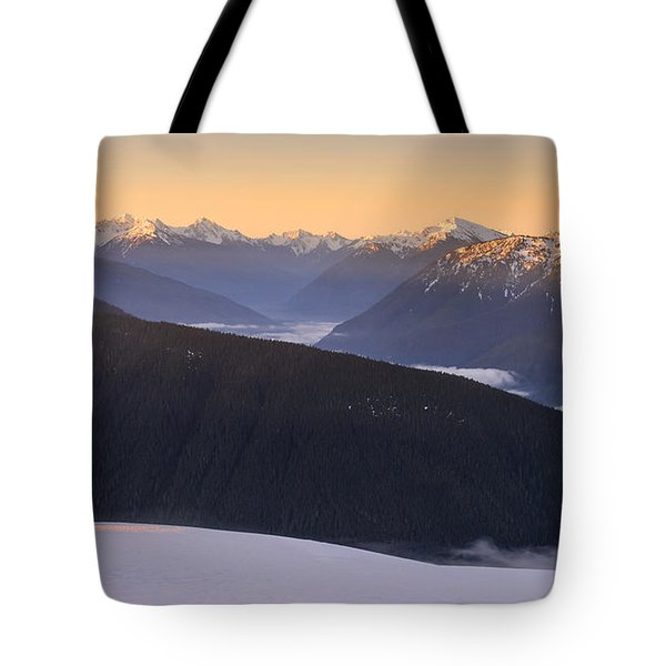 Sunrise Above The Clouds Tote Bag