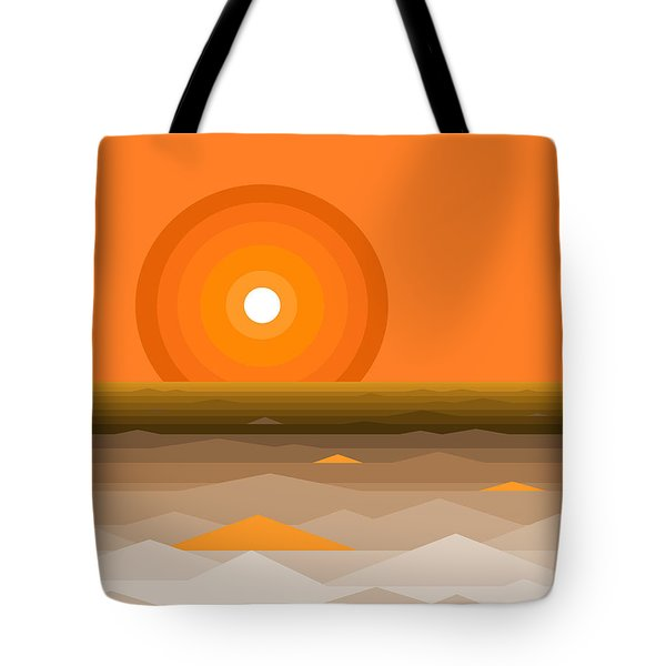 Sunrise Abstract In Orange Tote Bag