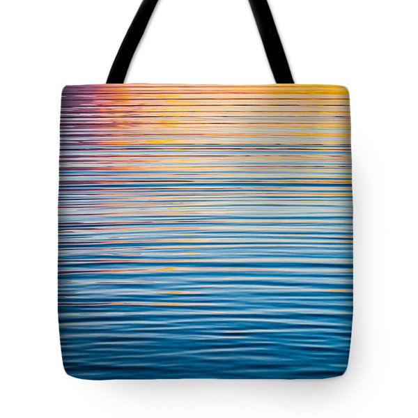 Sunrise Abstract On Calm Waters Tote Bag