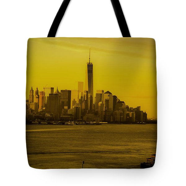 Sunrise Across The Hudson Tote Bag