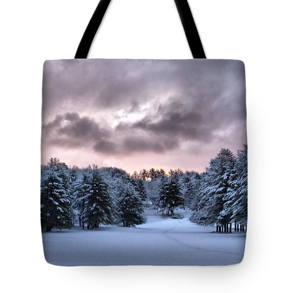 Sunrise After The Snow  Tote Bag