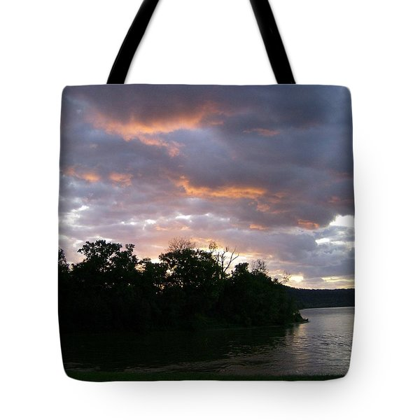 Sunrise Along The River Tote Bag