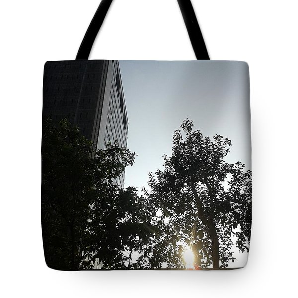 Sunrise And Building Tote Bag