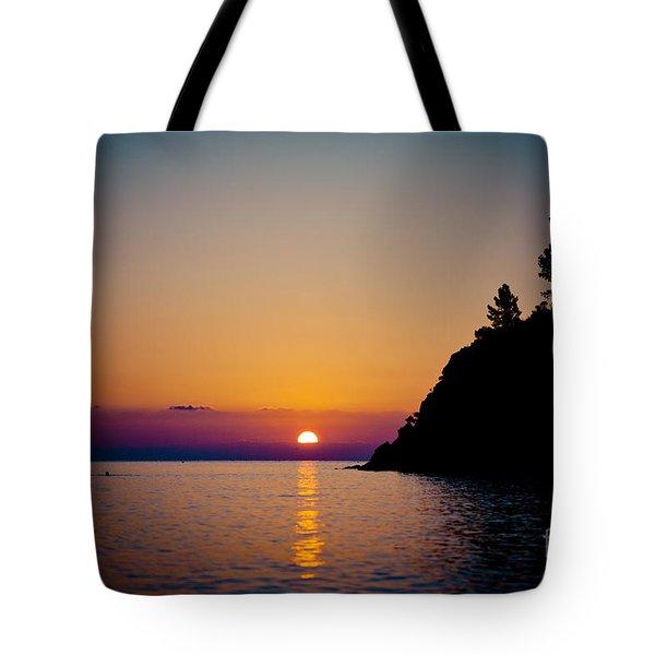 Sunrise And Seascape Tote Bag