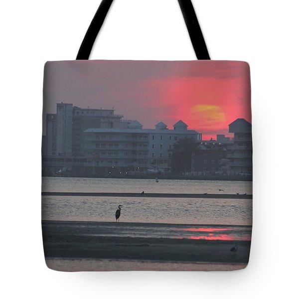 Sunrise And Skyline Tote Bag