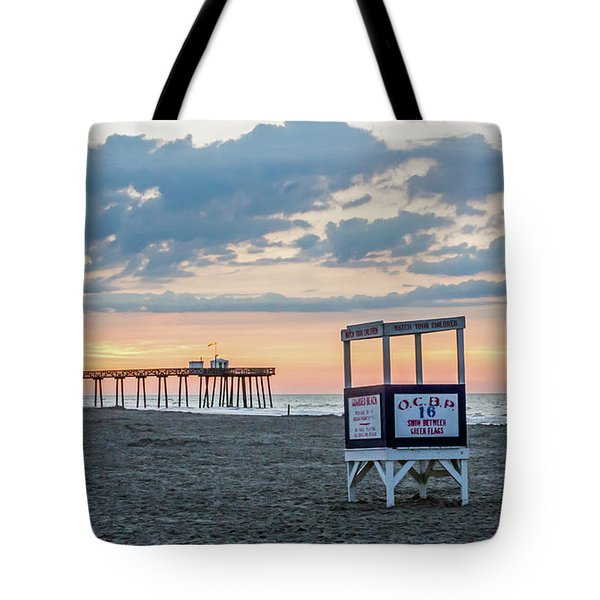 Sunrise At 16th Street Ocean City New Jersey Tote Bag