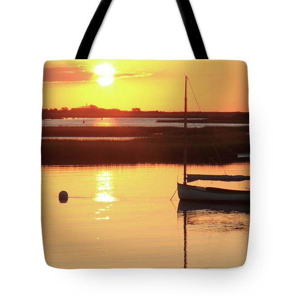 Sunrise At Bass River Tote Bag by Roupen  Baker