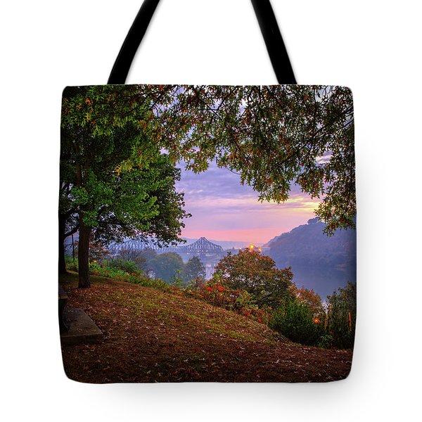 Sunrise At River Rd  Tote Bag