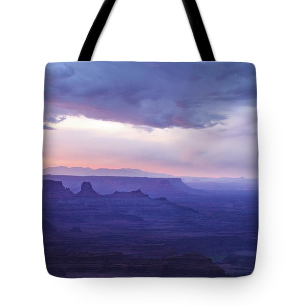 Tote Bag featuring the photograph Sunrise At Canyonlands by Marie Leslie