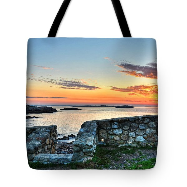 Sunrise At Castle Rock Marblehead Ma Tote Bag
