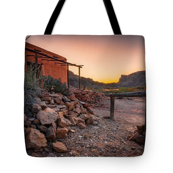 Sunrise At Contrabando Tote Bag