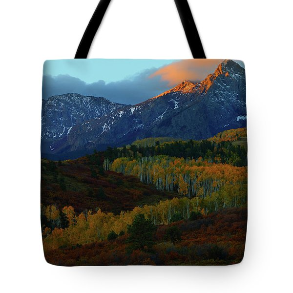 Sunrise At Dallas Divide During Autumn Tote Bag