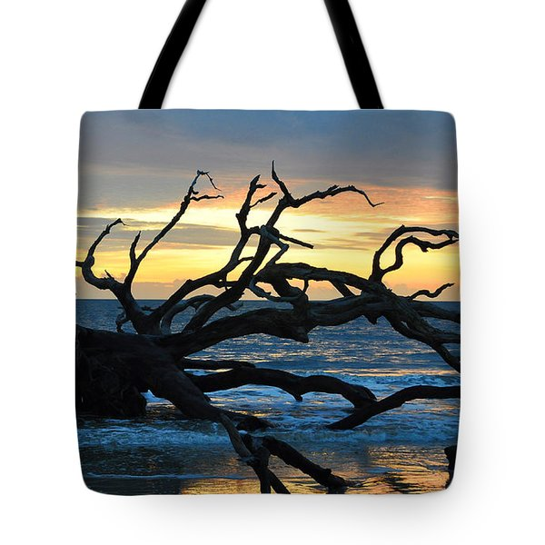 Sunrise At Driftwood Beach 1.1 Tote Bag by Bruce Gourley