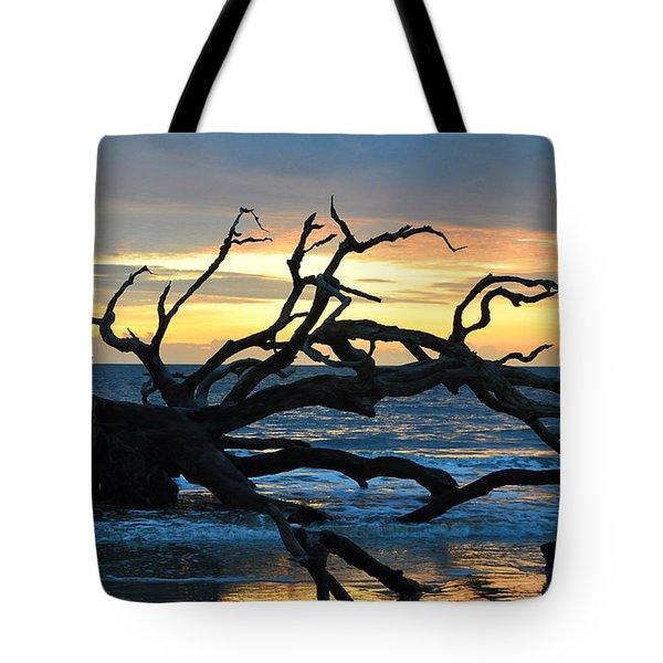 Sunrise At Driftwood Beach 1.1 Tote Bag