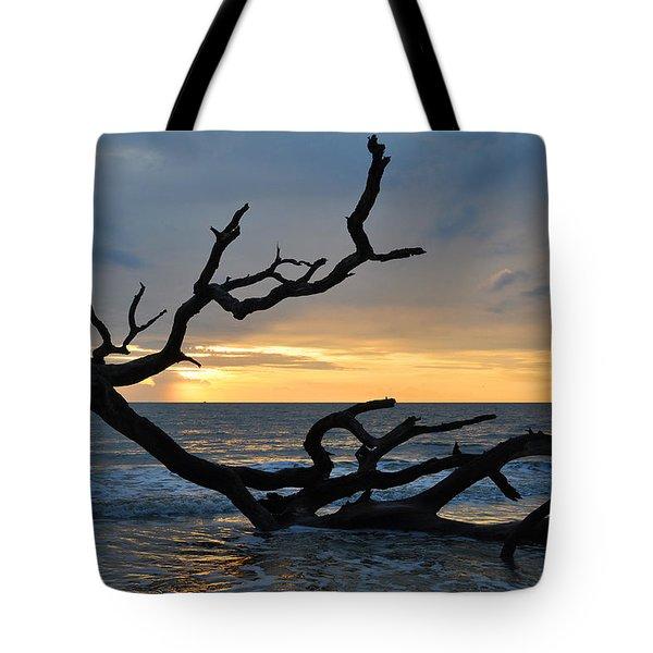 Sunrise At Driftwood Beach 1.2 Tote Bag