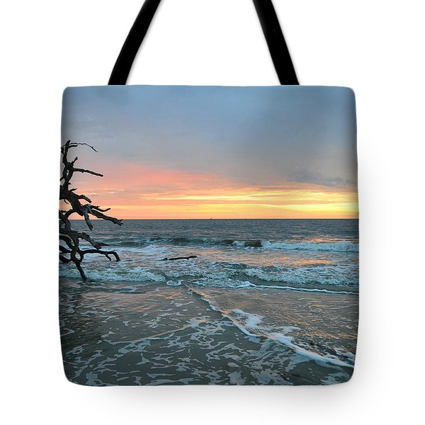 Sunrise At Driftwood Beach 1.3 Tote Bag