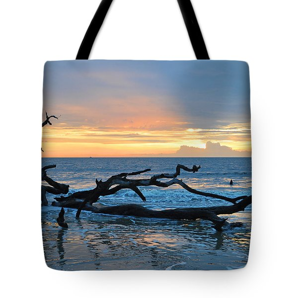 Sunrise At Driftwood Beach 1.4 Tote Bag by Bruce Gourley