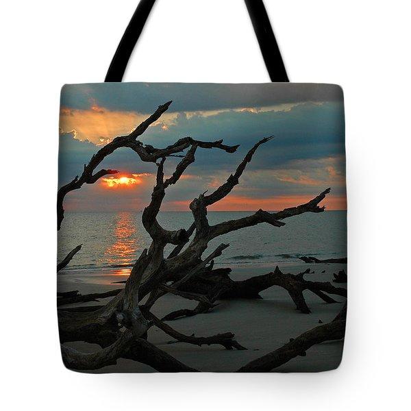 Sunrise At Driftwood Beach 2.2 Tote Bag