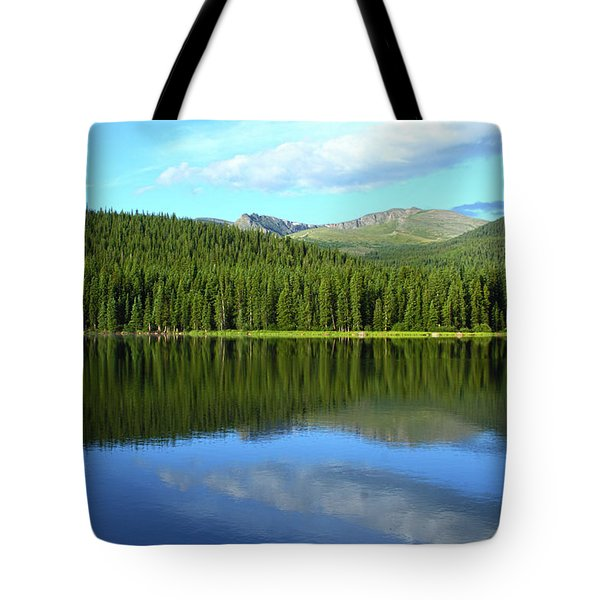 Tote Bag featuring the photograph Sunrise At Echo Lake by Marie Leslie