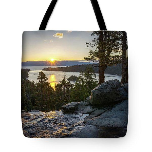 Sunrise At Emerald Bay In Lake Tahoe Tote Bag