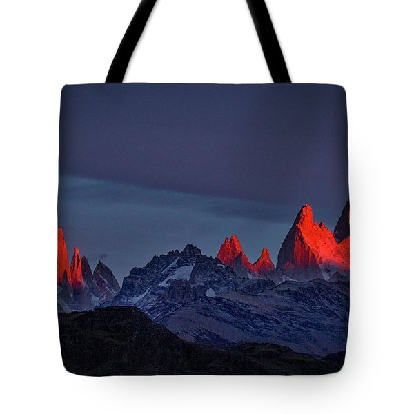 Sunrise At Fitz Roy #2 - Patagonia Tote Bag