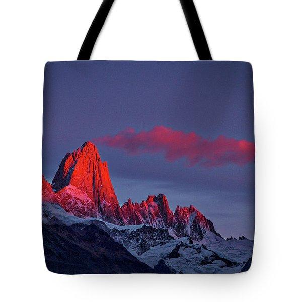 Sunrise At Fitz Roy #3 - Patagonia Tote Bag
