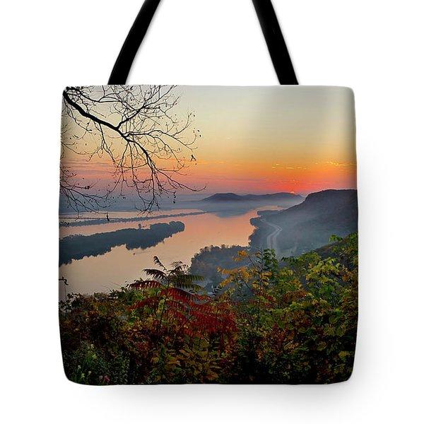 Sunrise At Homer, Mn Tote Bag