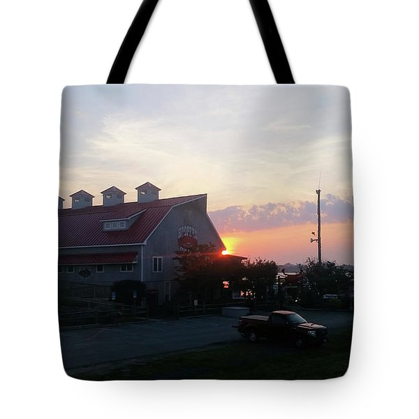 Sunrise At Hooper's Crab House Tote Bag