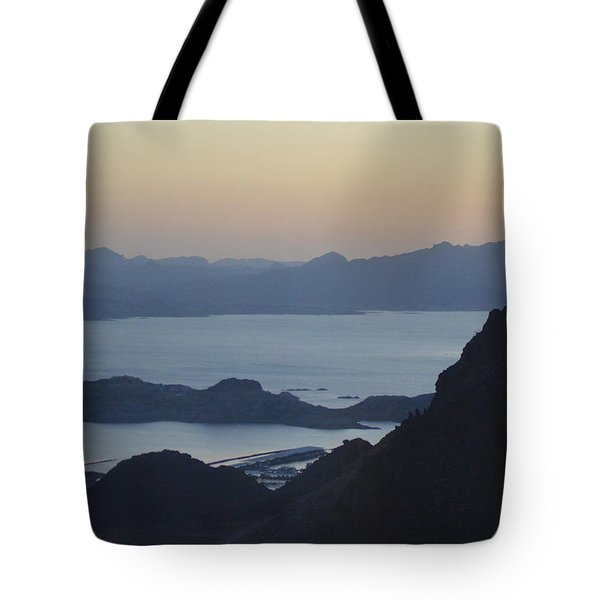 Sunrise At Hoover Dam Tote Bag