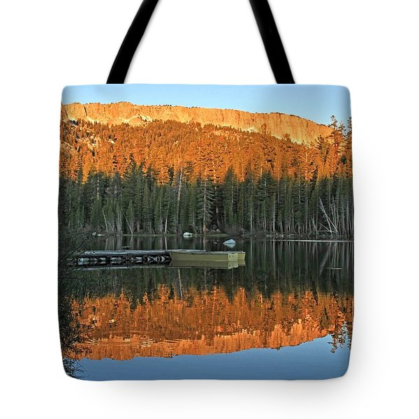 Tote Bag featuring the photograph Sunrise At Lake Mamie by Donna Kennedy