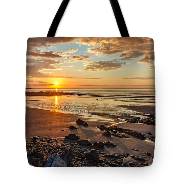 Sunrise At Long Sands Tote Bag
