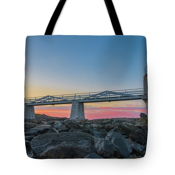 Sunrise At Marshall Point Tote Bag