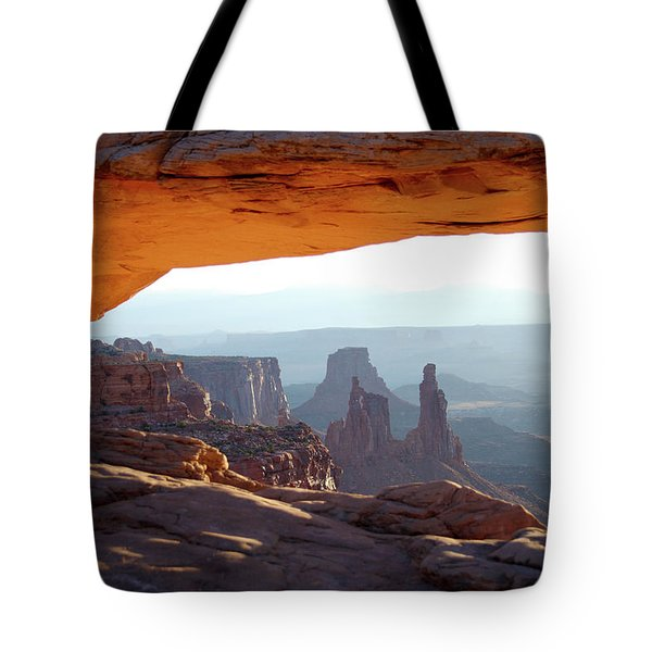 Sunrise At Mesa Arch Tote Bag