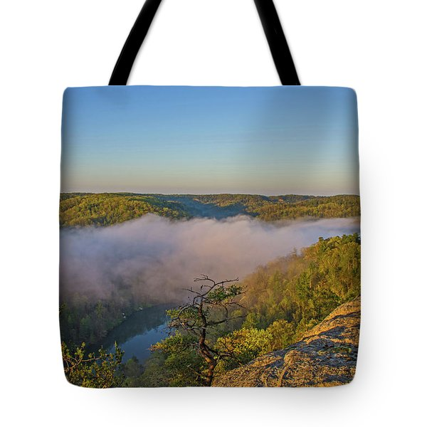 Sunrise At Mill Creek Lake. Tote Bag by Ulrich Burkhalter