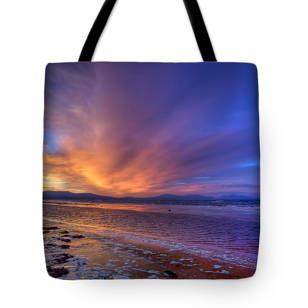 Sunrise At Newborough Tote Bag