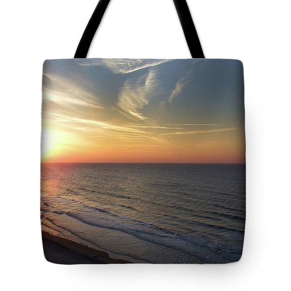 Sunrise At North  Myrtle Beach Tote Bag