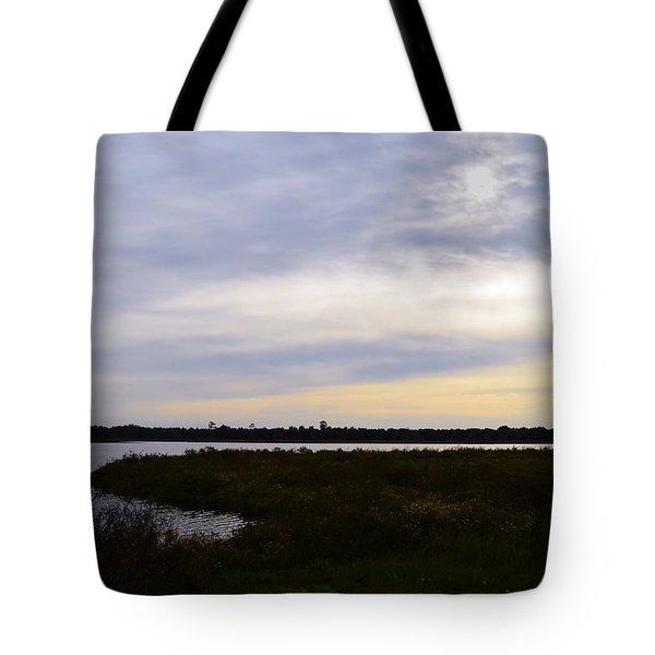 Sunrise At Orange Creek Tote Bag by Warren Thompson