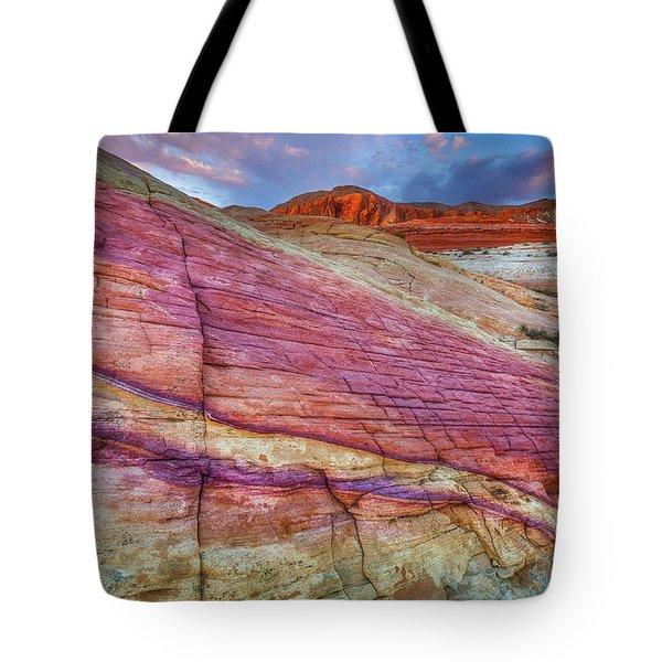 Sunrise At Rainbow Rock Tote Bag