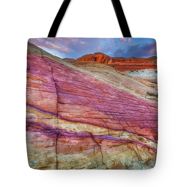Tote Bag featuring the photograph Sunrise At Rainbow Rock by Darren White