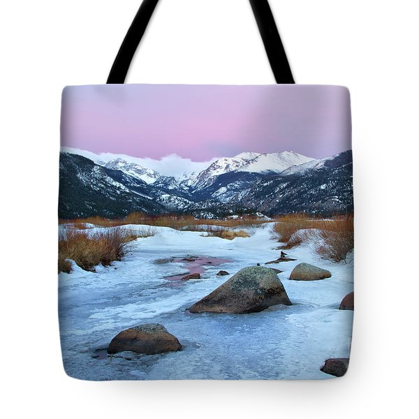 Sunrise At Rocky Mountain National Park Tote Bag