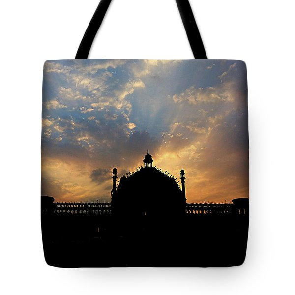 Sunrise At Rumi Gate Tote Bag