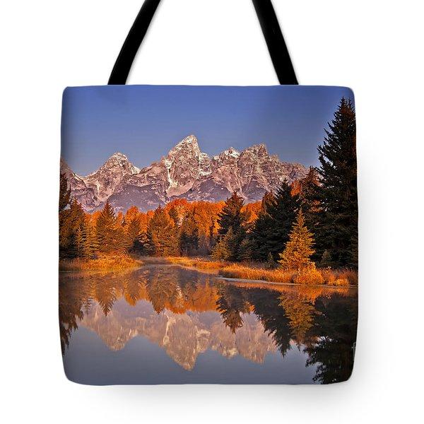 Sunrise At Schwabacher Landing  Tote Bag