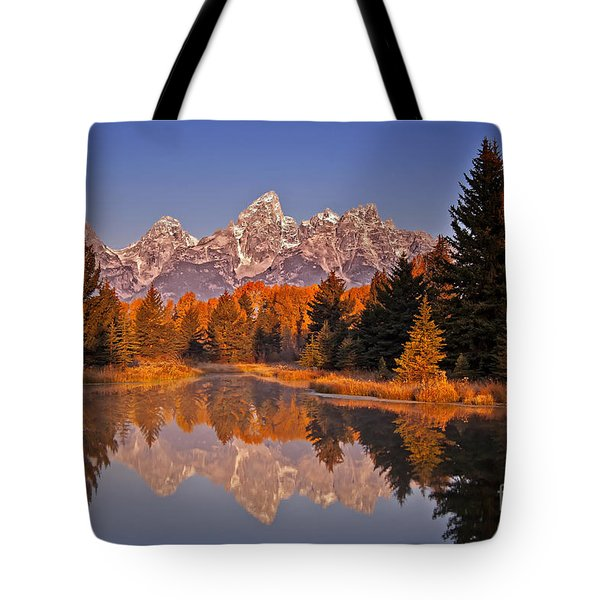 Tote Bag featuring the photograph Sunrise At Schwabacher Landing  by Sam Antonio Photography