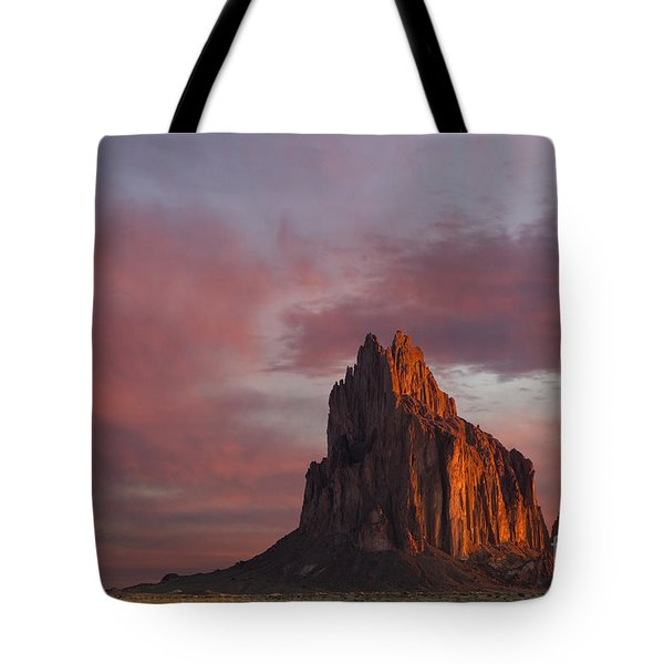 Sunrise At Shiprock New Mexico Tote Bag by Keith Kapple