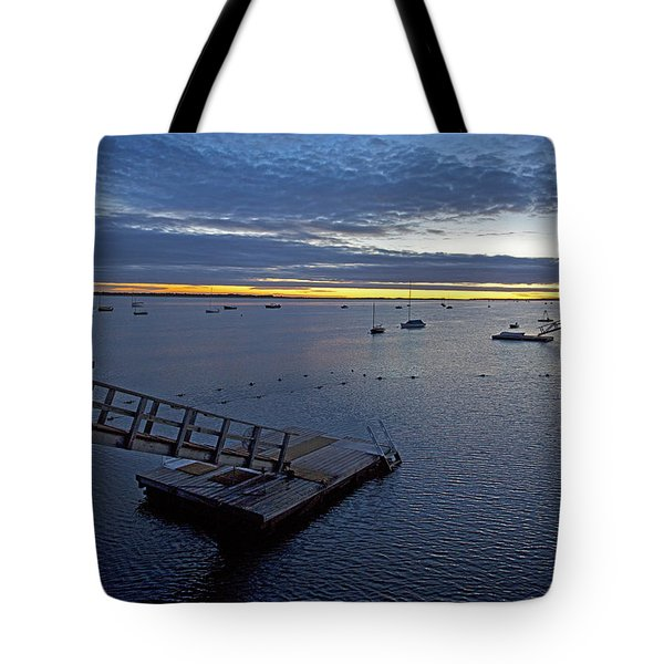 Sunrise At The Barnstable Yacht Club Tote Bag