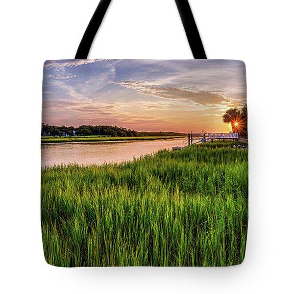 Sunrise At The Boat Ramp Tote Bag